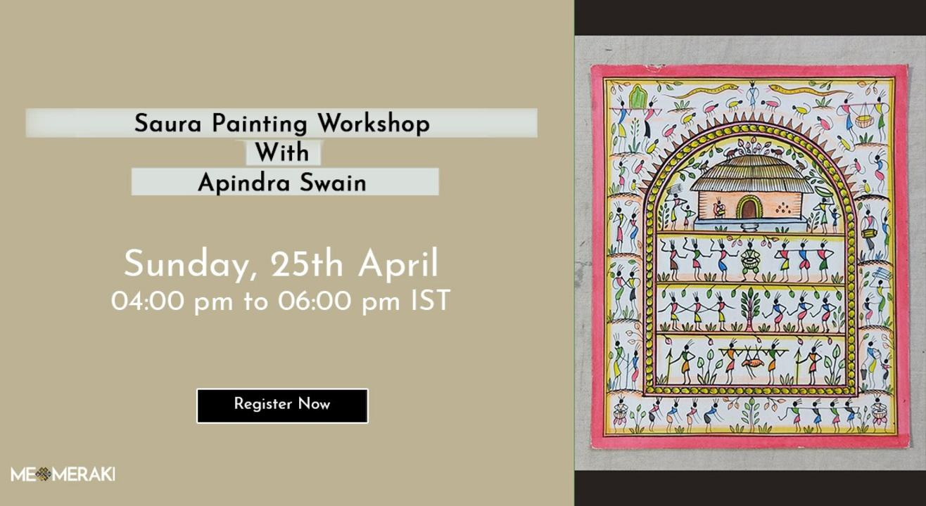 ONLINE SAURA PAINTING WORKSHOP BY APINDRA SWAIN