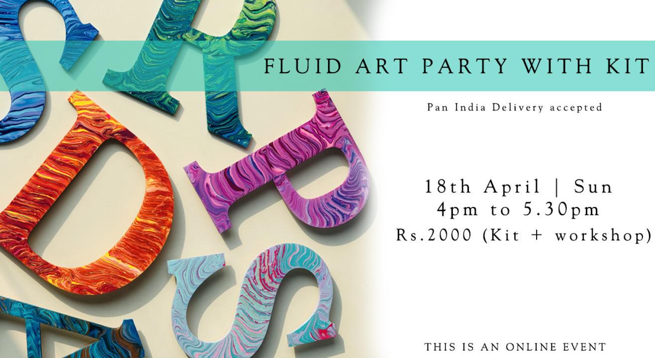 Fluid Art workshop with Paintology Art Kit