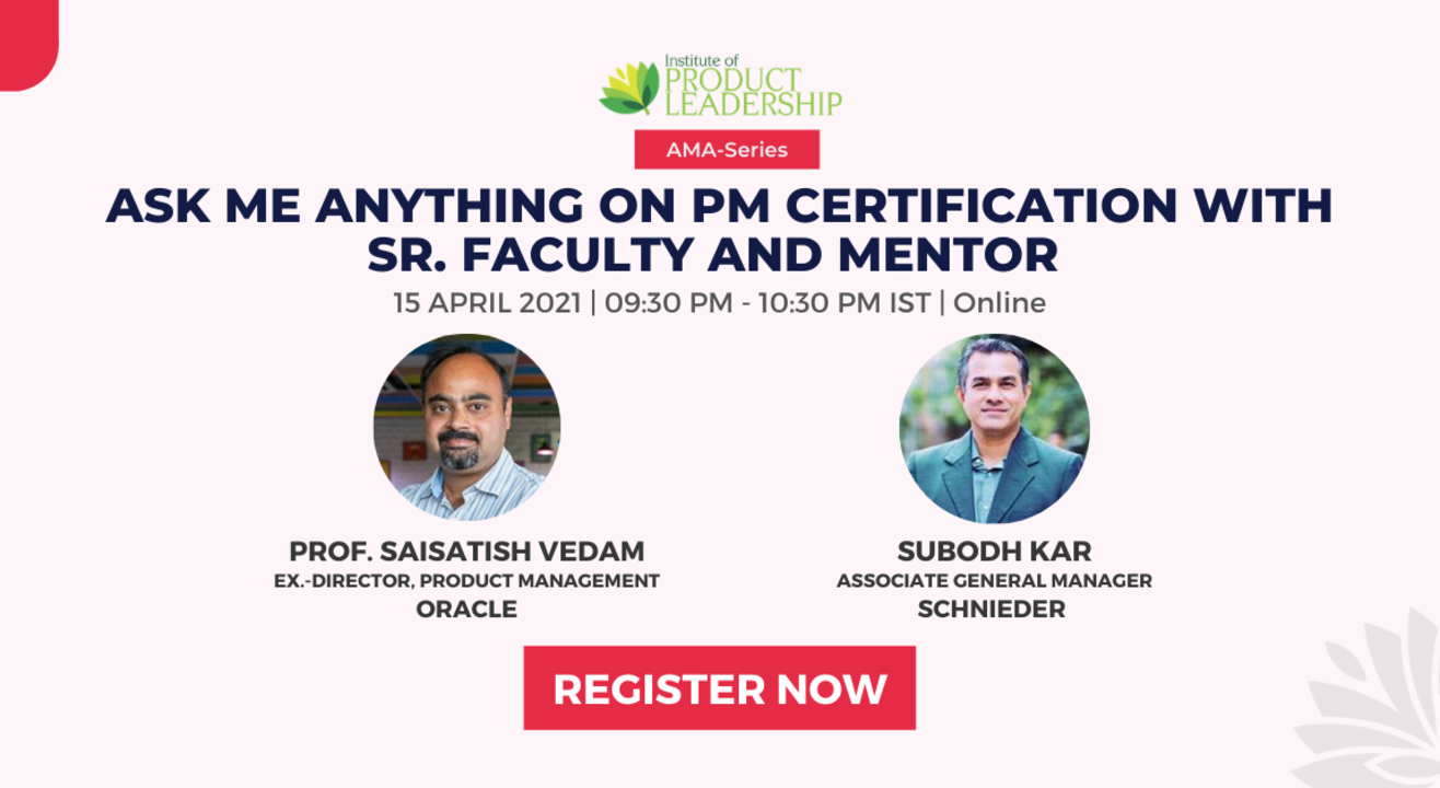 Ask Me Anything on PM Certification with Sr. Faculty and Mentor
