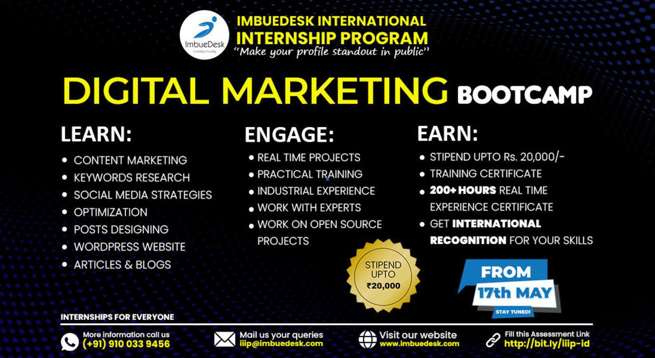 Training + Internship on Digital Marketing