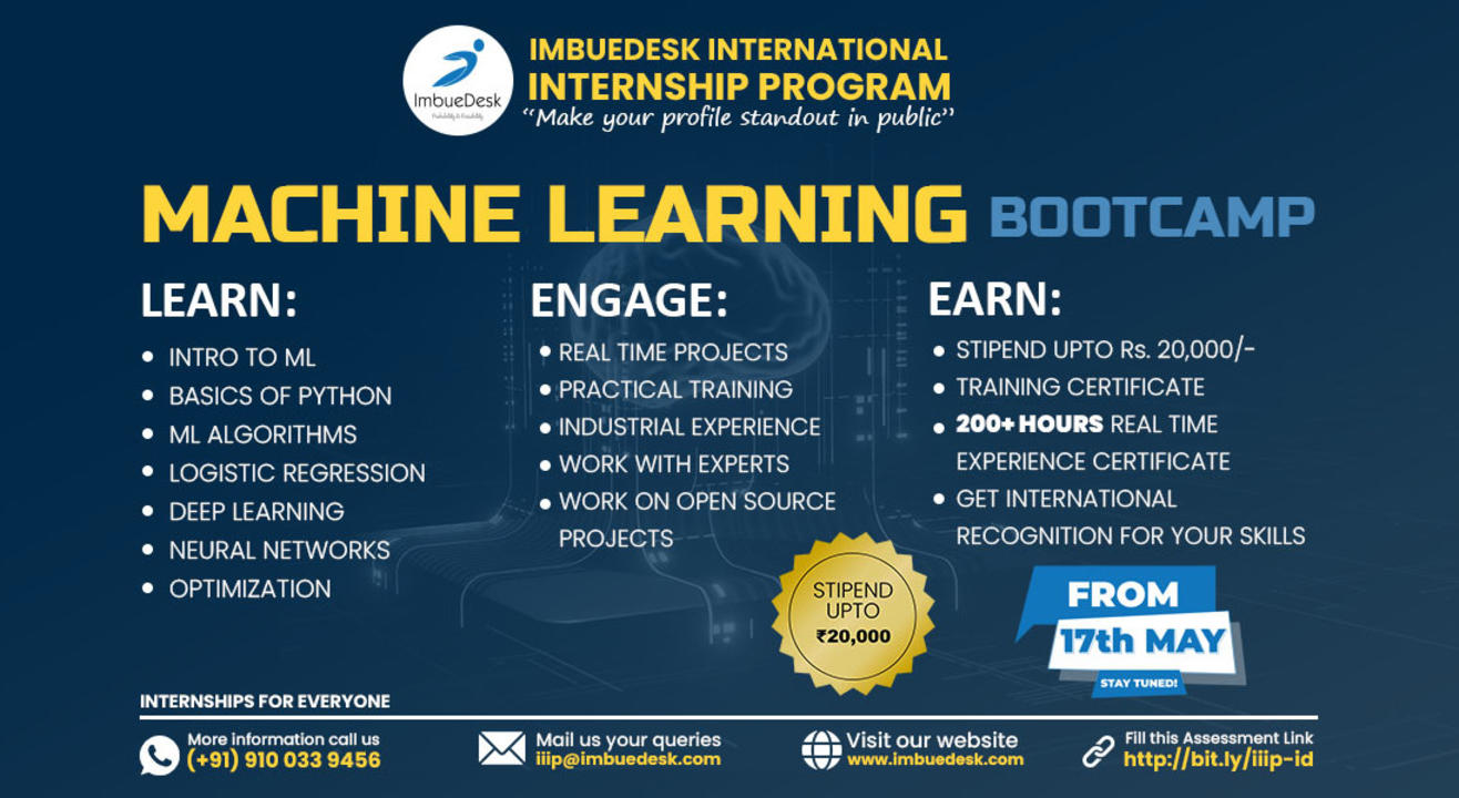 Training + Internship on Machine Learning