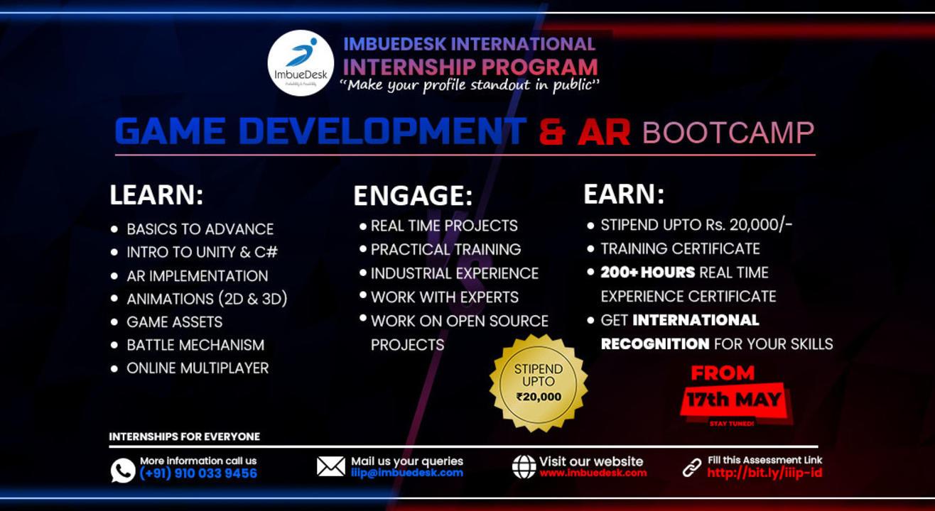 Training + Internship on Game Development & AR