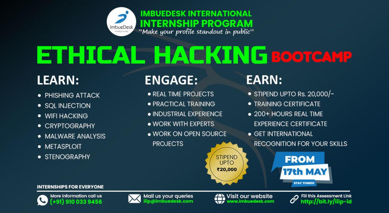 Training + Internship on Ethical Hacking