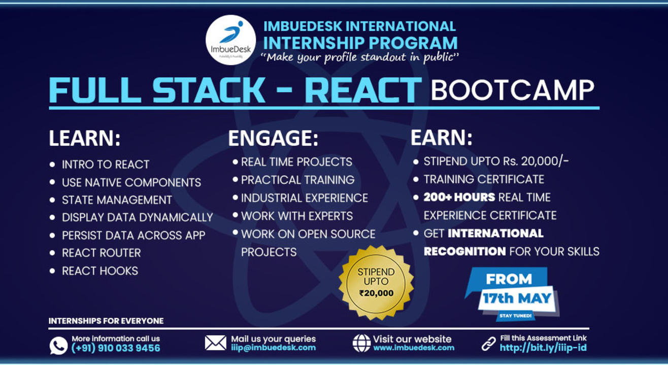 Training + Internship on Full Stack-React