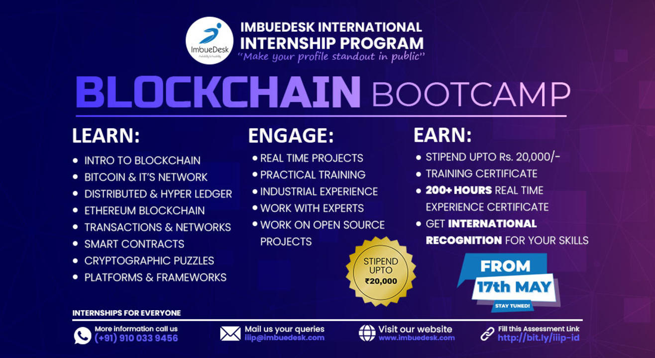 Training + Internship on Block Chain