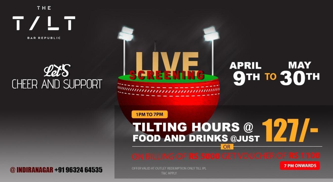 Live Sports Screening at The TILT Indranagar