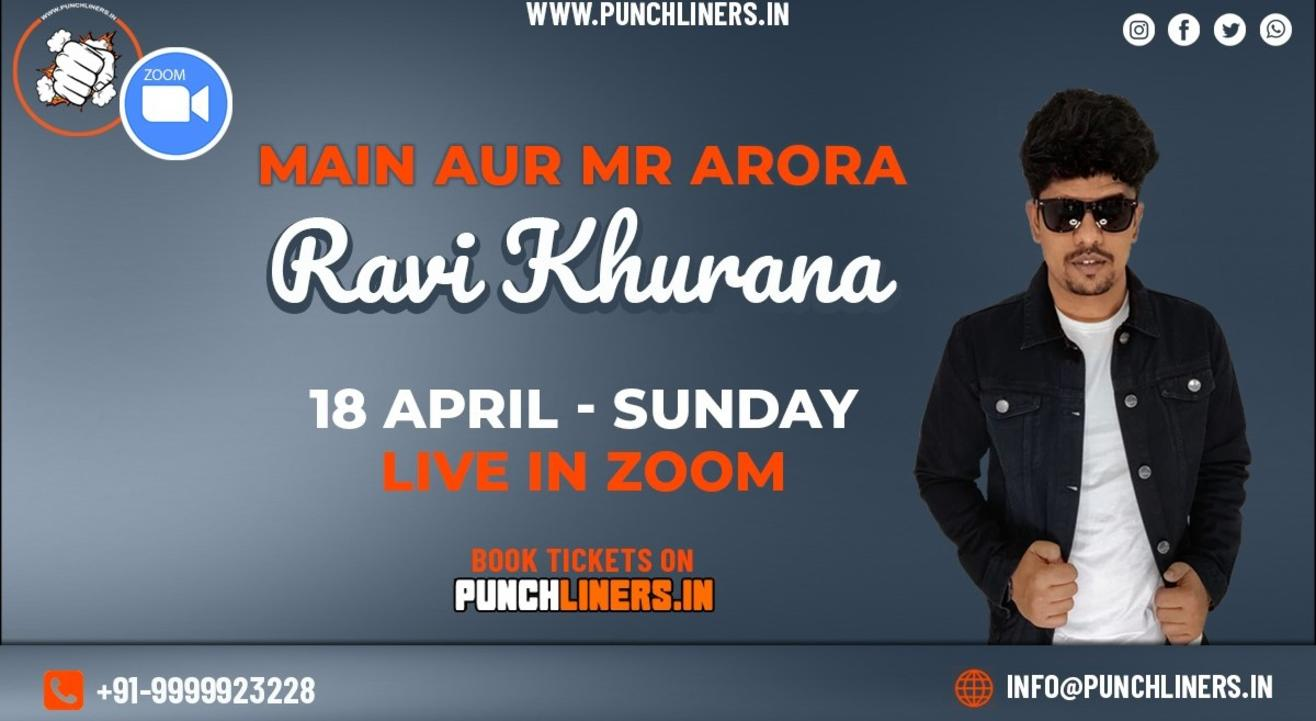 Punchliners Comedy Show ft Ravi Khurana (Zoom)