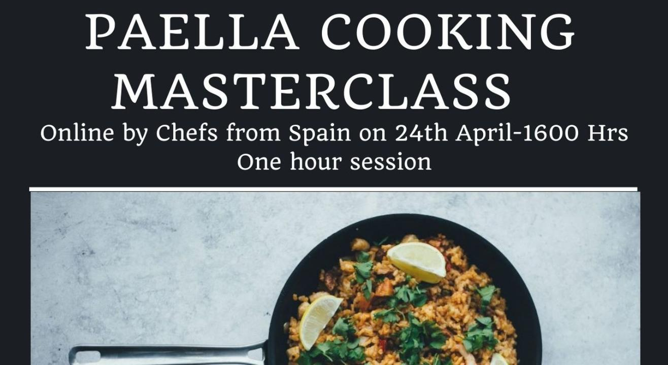 Virtual Spanish Master-chef Paella Cooking Session.