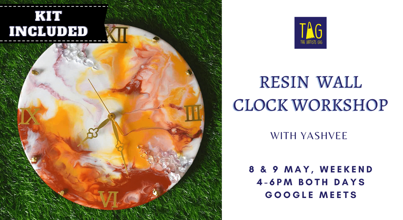 Resin Wall Clock Workshop by TAG The Artists Gig