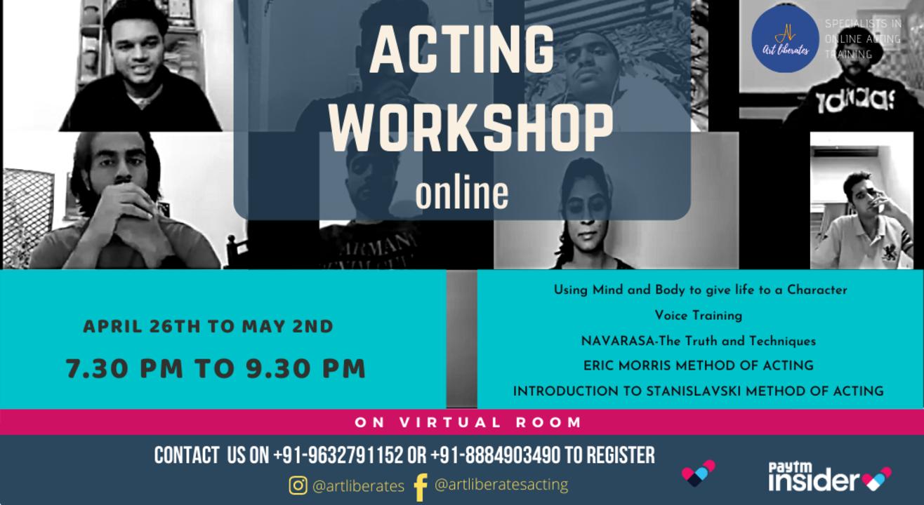 Acting Workshop Online-Art Liberates Training