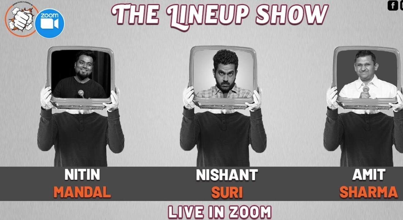 Punchliners Comedy show Ft. Nishant Suri & Friends on Zoom
