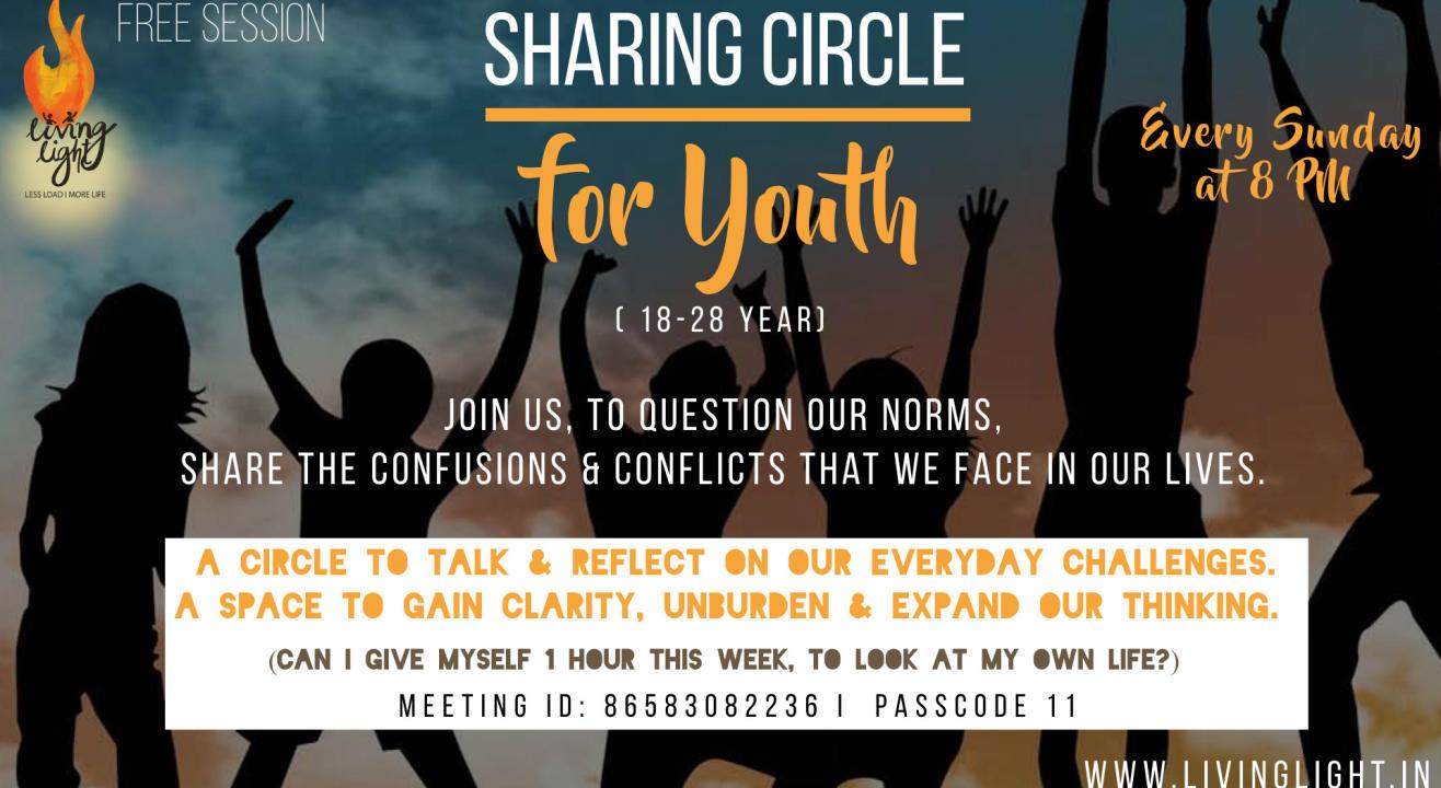 Sharing circle for youth (18-28 yrs)