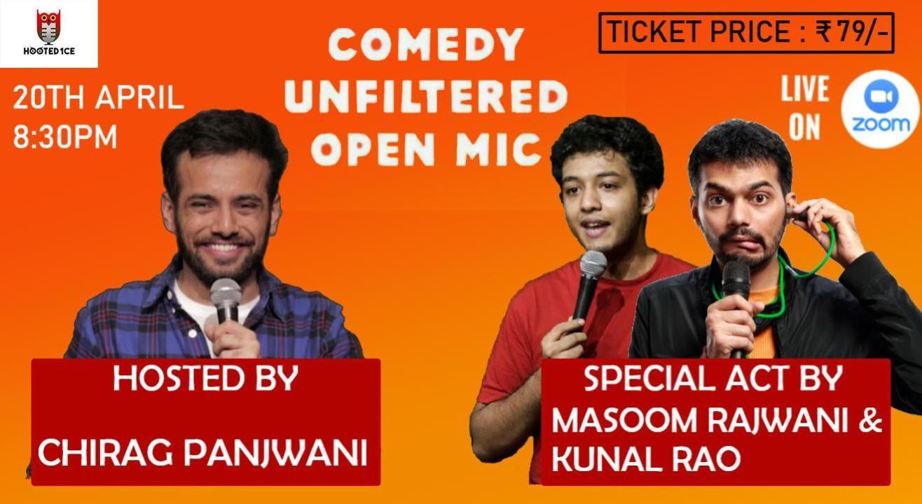 Comedy Unfiltered Open Mic ft. Masoom Rajwani and Kunal Rao