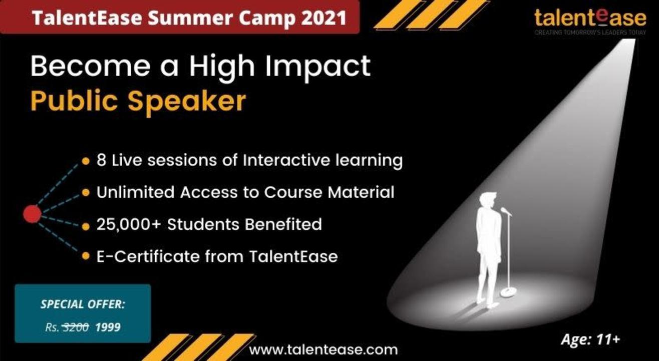 Summer Camp: Become a high impact public speaker