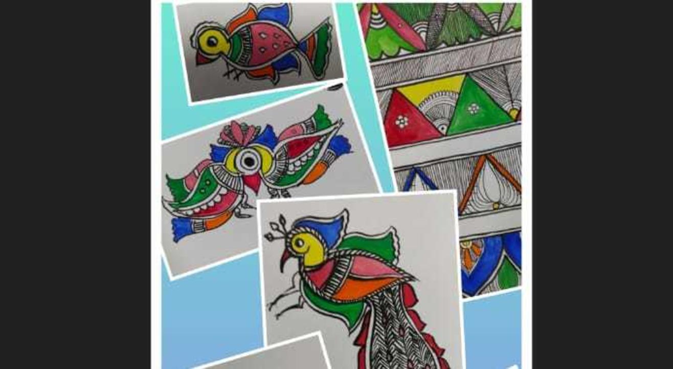 Learn Madhubani Paintings on Zoom