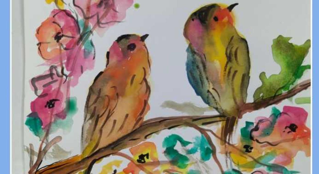 Learn Water Color Painting on Zoom