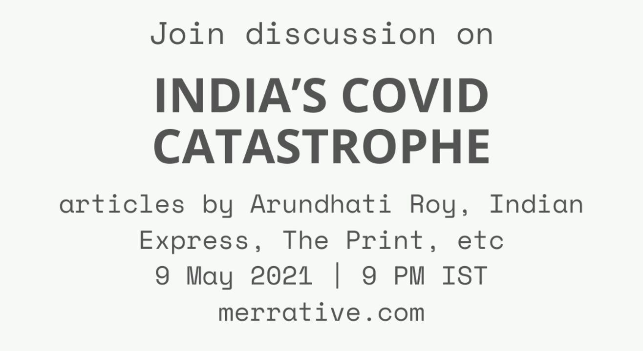 Group Discussion on 'India's Covid catastrophe - why and next steps'