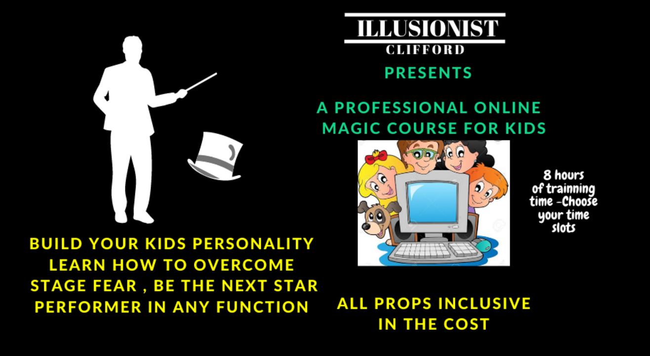 Learn Proffesional Magic for Kids - Illusionist Clifford