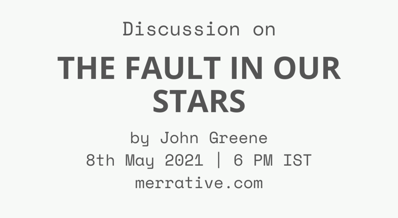 Book Discussion: The Fault in Our Stars by John Greene