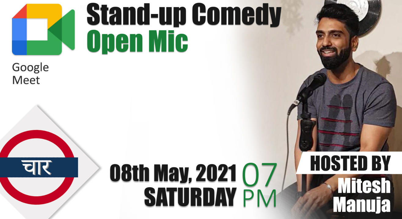 Online Stand-up Comedy Open Mic with Platform No.4 hosted by Mitesh Manuja