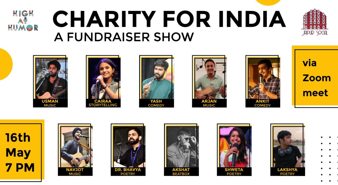 Charity For India : A Fundraiser Show for Covid India