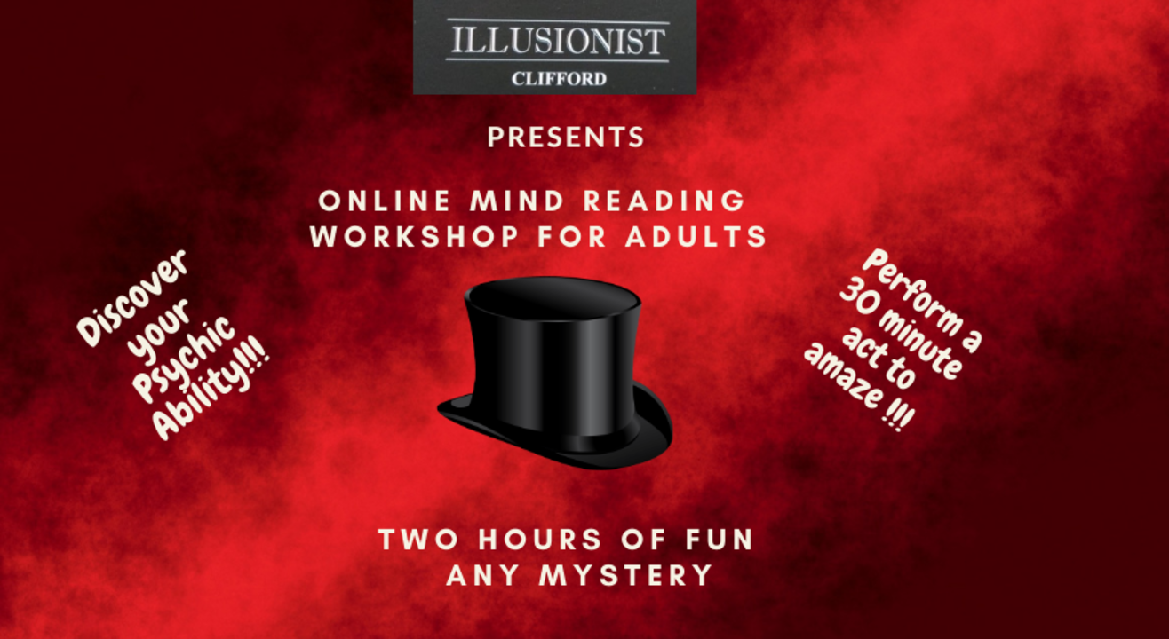 Mind Reading Workshop for Adults- Illusionist Clifford