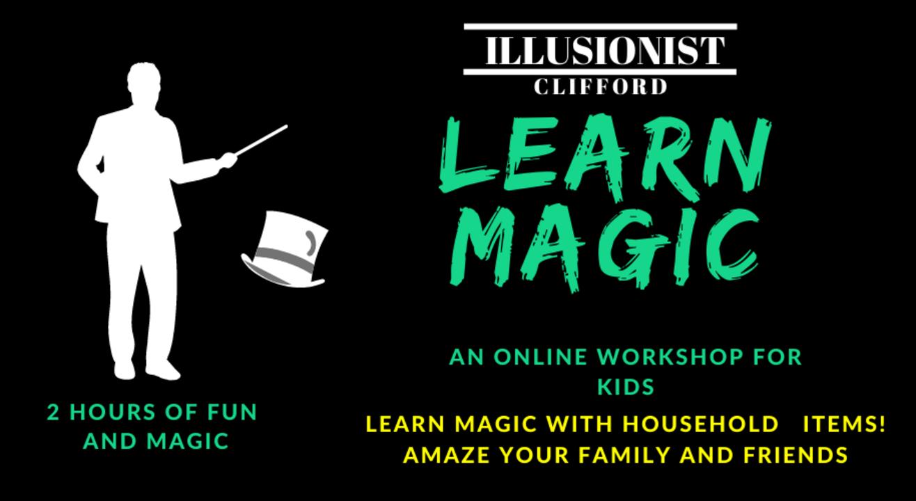 Kids Learn Magic Online- Illusionist Clifford