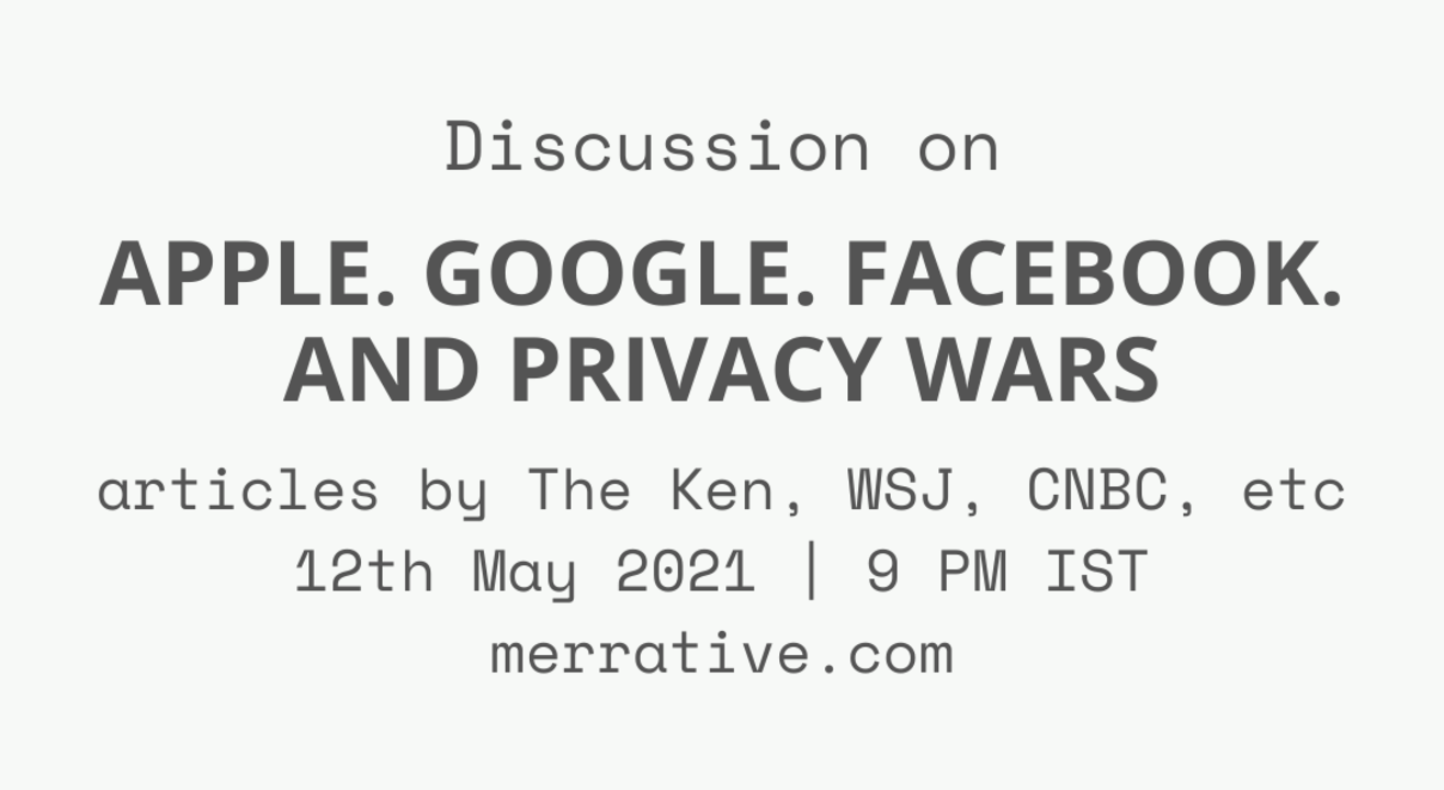 Discussion on 'Apple. Google. Facebook. And Privacy Wars.'