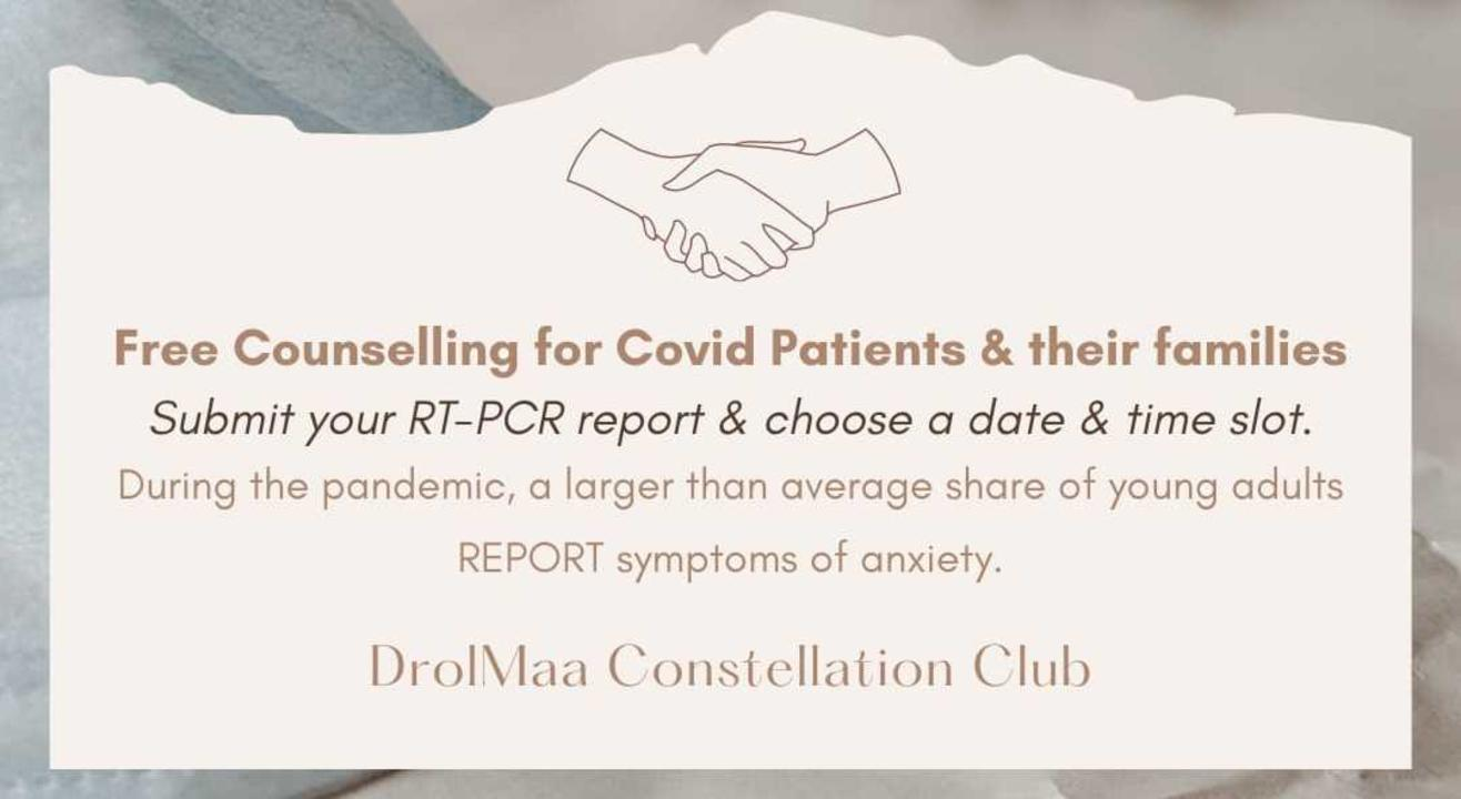 Free Counselling to Covid Patients & their families.