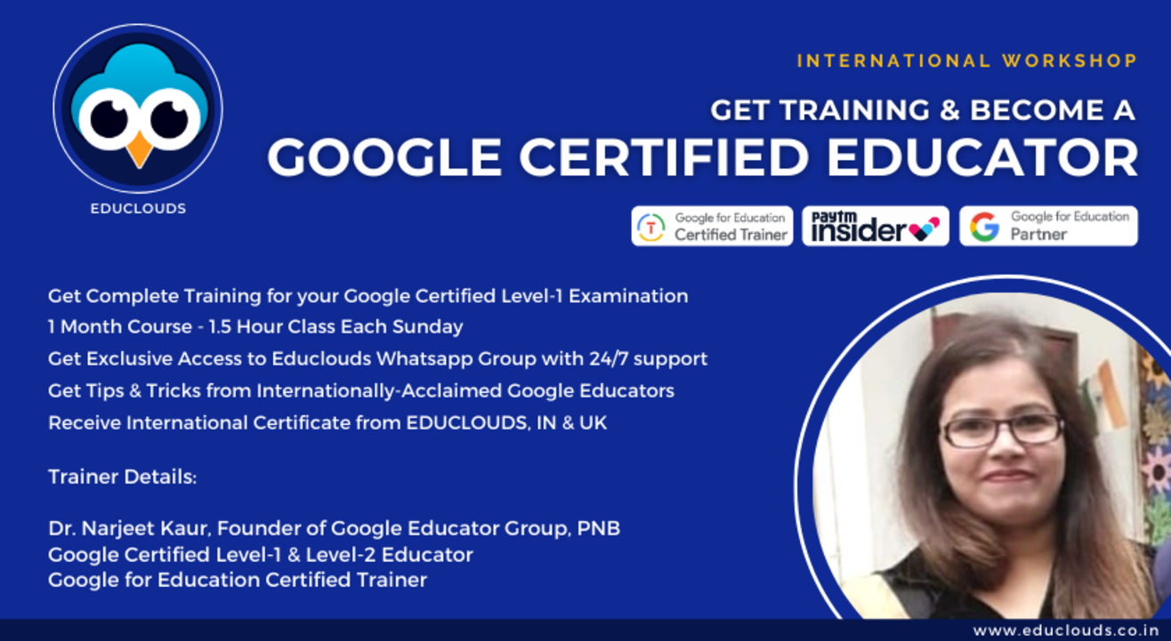 How to become a Google Certified Educator - Exclusive Workshop for Teachers