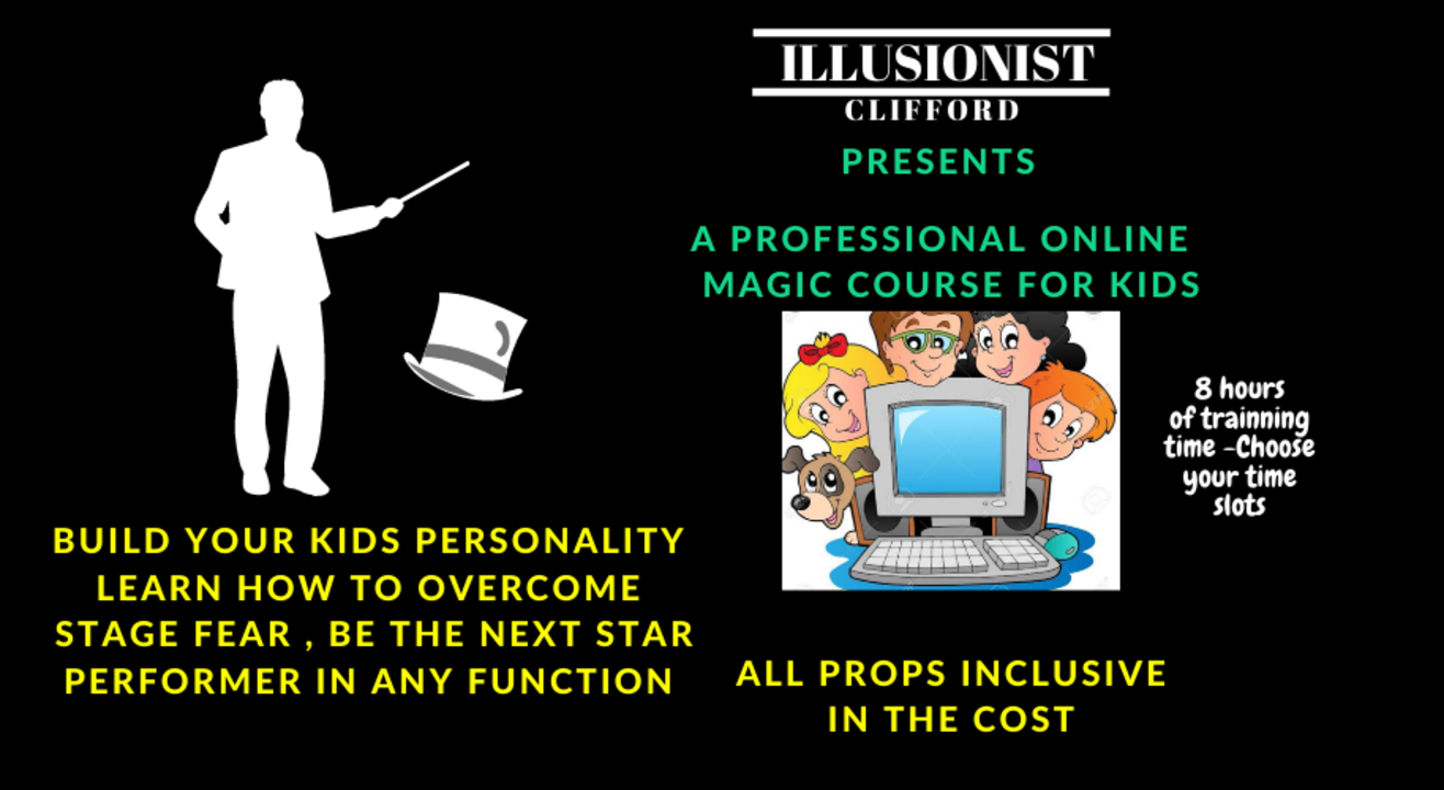 Learn Professional Magic for Kids - Illusionist Clifford
