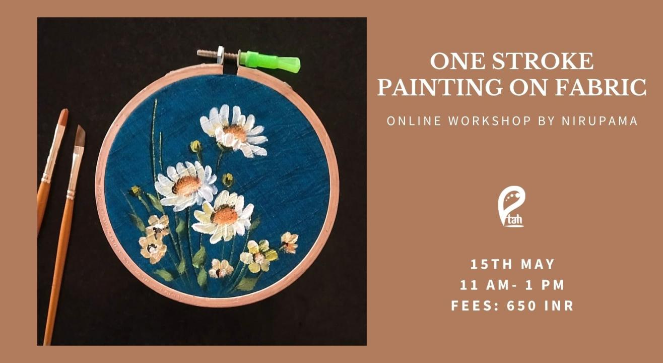 One Stroke Painting on Fabric Online Workshop