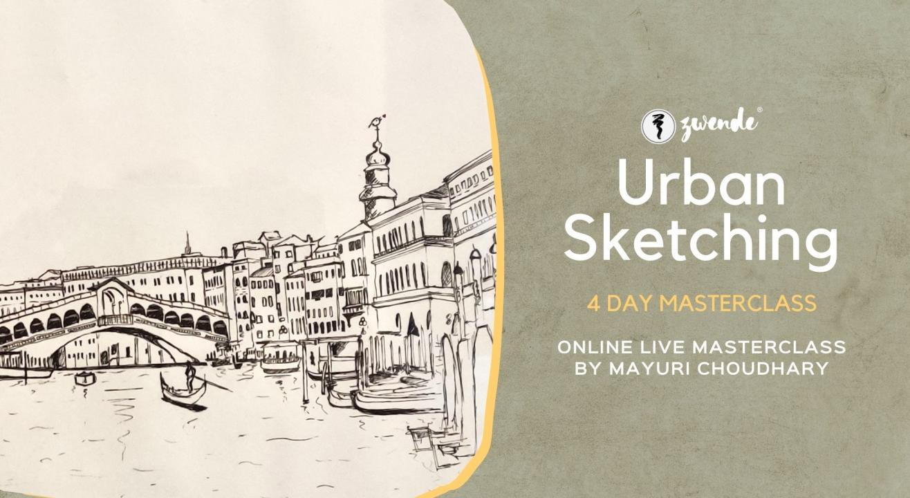Urban Sketching [4-Day Online Live Masterclass]
