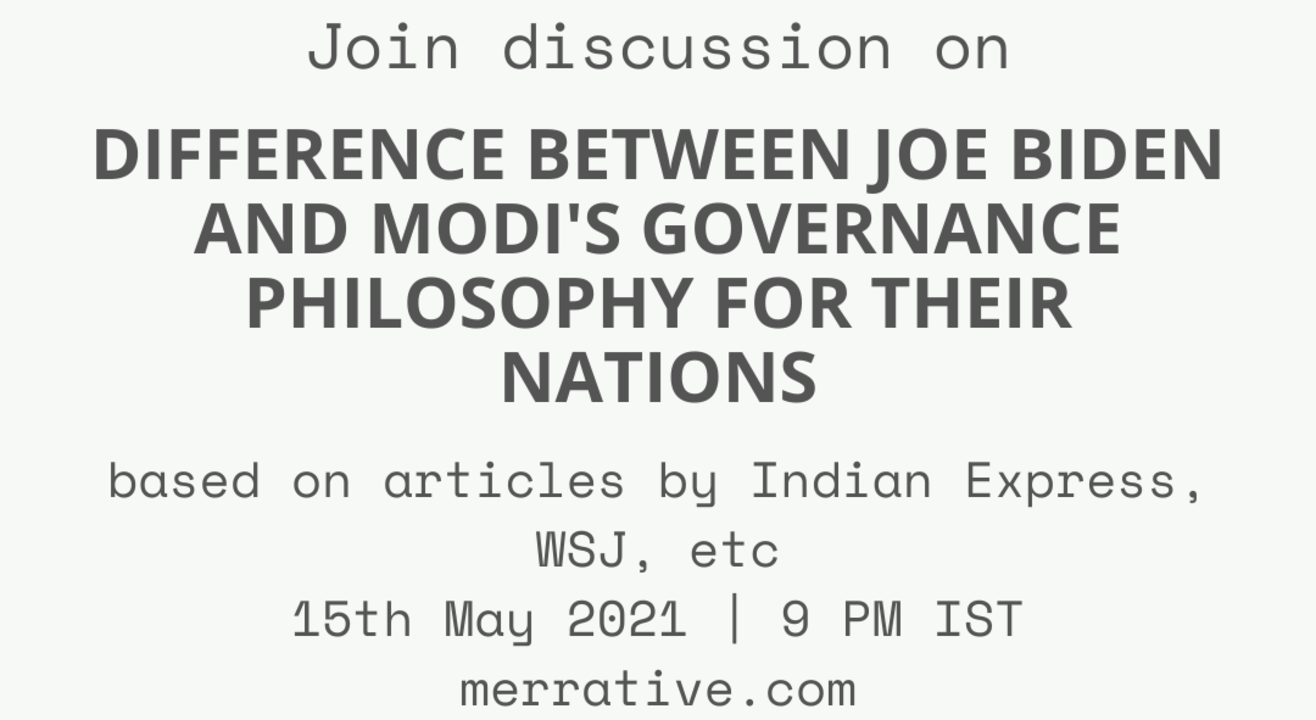 Group Discussion on 'Difference between Joe Biden and Modi's governance philosophy for their nations'