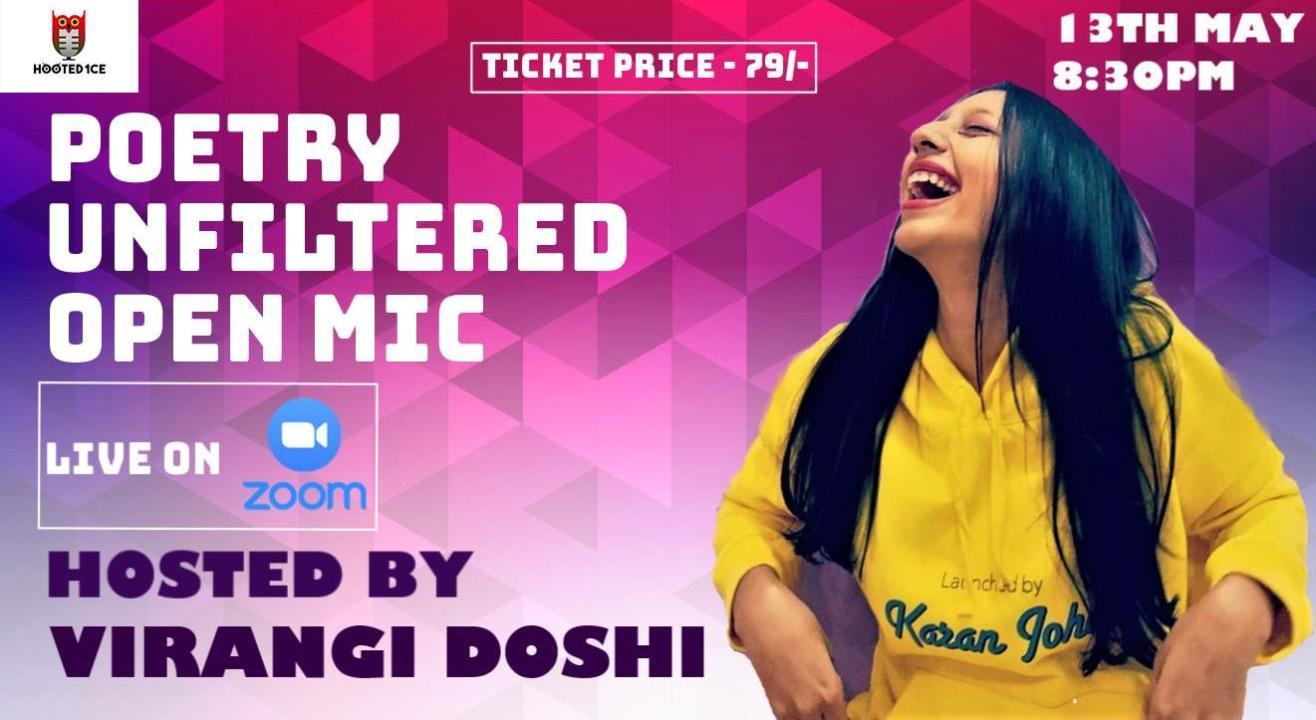 Poetry Unfiltered Open Mic ft Virangi Doshi