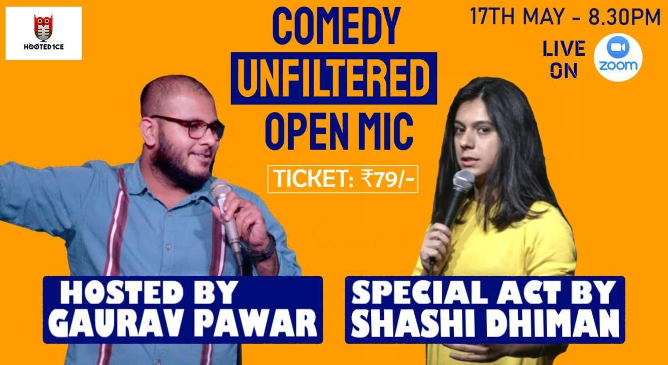 Comedy Unfiltered Open Mic ft. Shashi Dhiman