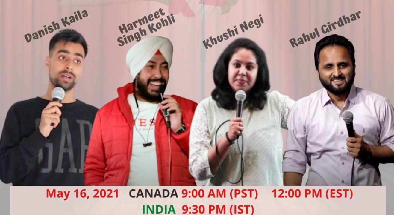 Indo-Canadian Desi New Jokes Open Mic