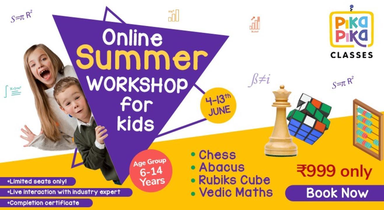Online Summer Workshop For Kids