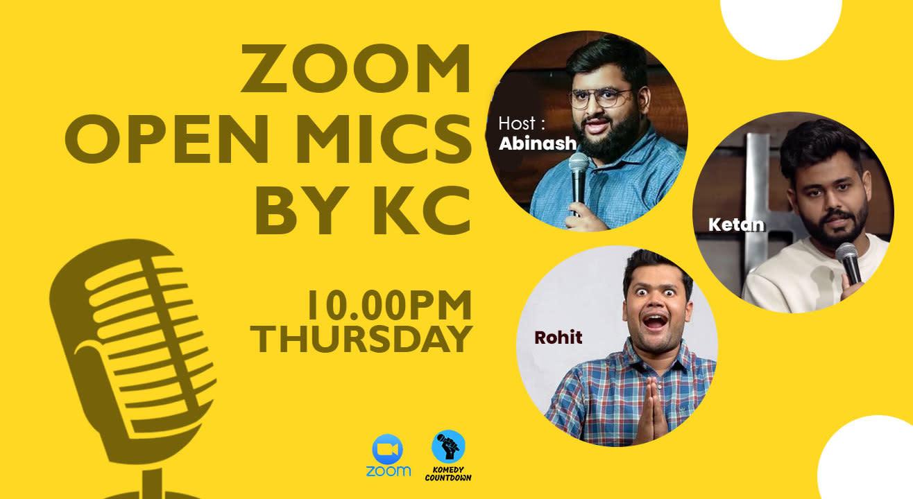 Zoom Open Mics By KC!