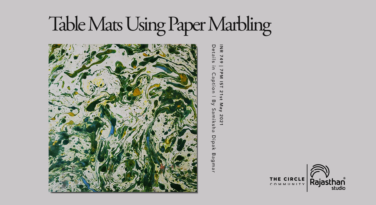 Table Mats Using Paper Marbling Workshop by The Circle Community