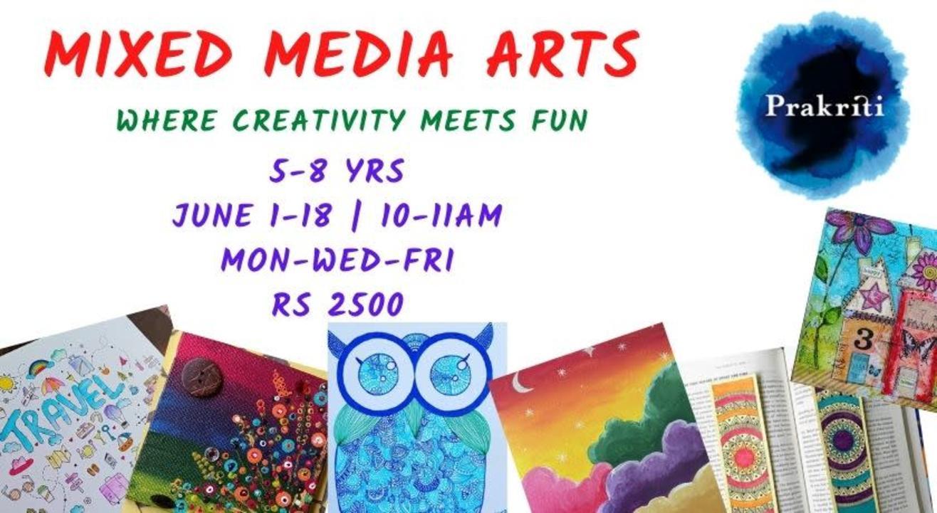 Mixed Media Arts @ Prakriti Summer Jamboree 2021