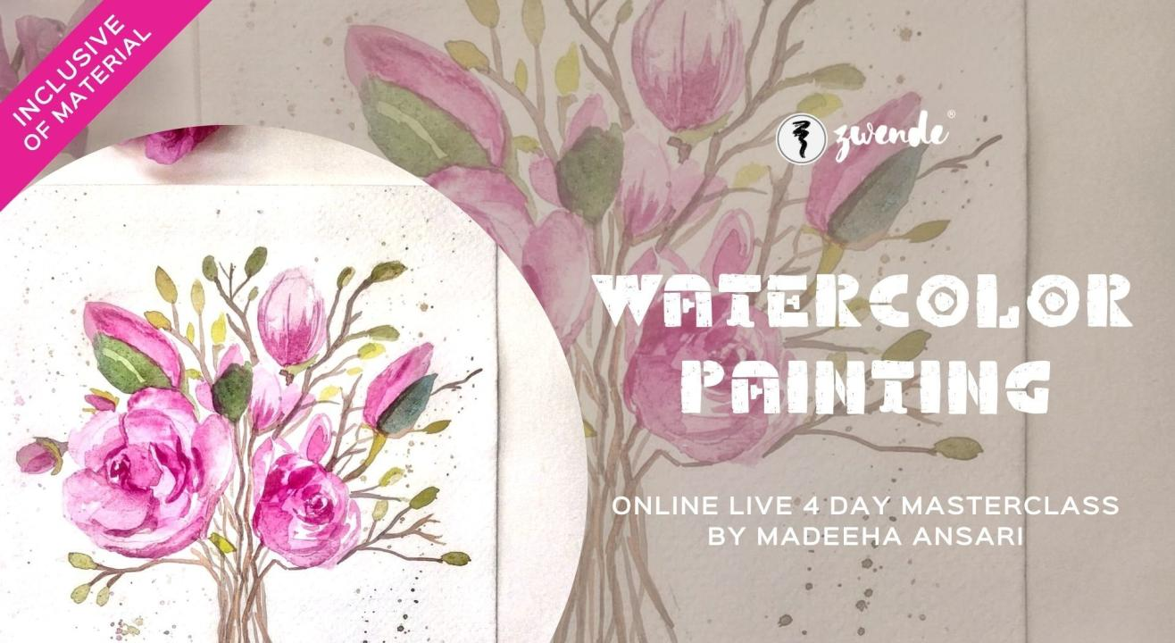 Watercolor Painting [4-Day Online Live Masterclass - Inclusive of Materials]