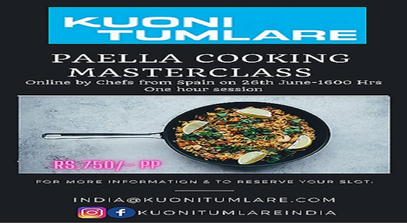 Virtual Spanish Master-chef Paella Cooking Session.