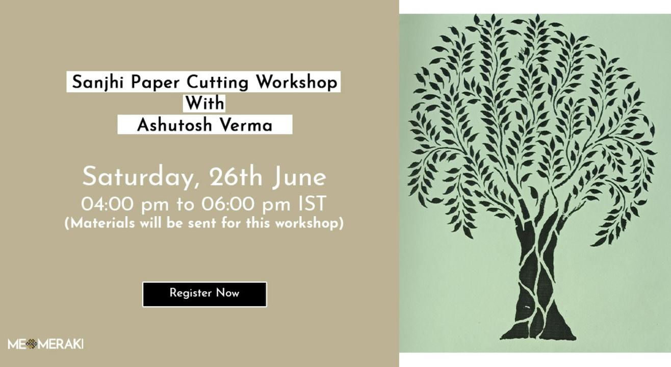 ONLINE SANJHI WORKSHOP WITH ASHUTOSH (WITH MATERIALS)