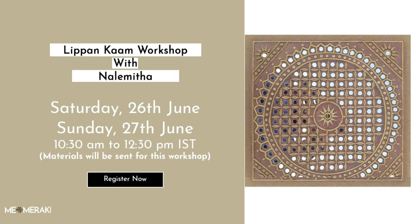 LIVE ONLINE LIPPAN KAAM / MUDWORK WORKSHOP BY NALEMITHA (WITH MATERIALS)