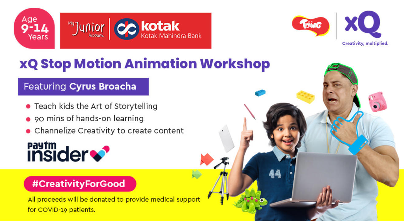 xQ Stop Motion Workshop Feat. Cyrus Broacha - For COVID Relief #CreativityForGood
