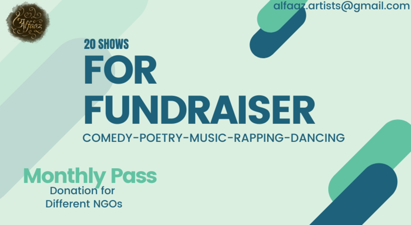 20 Shows for Fundraiser (Poetry, storytelling and much more)