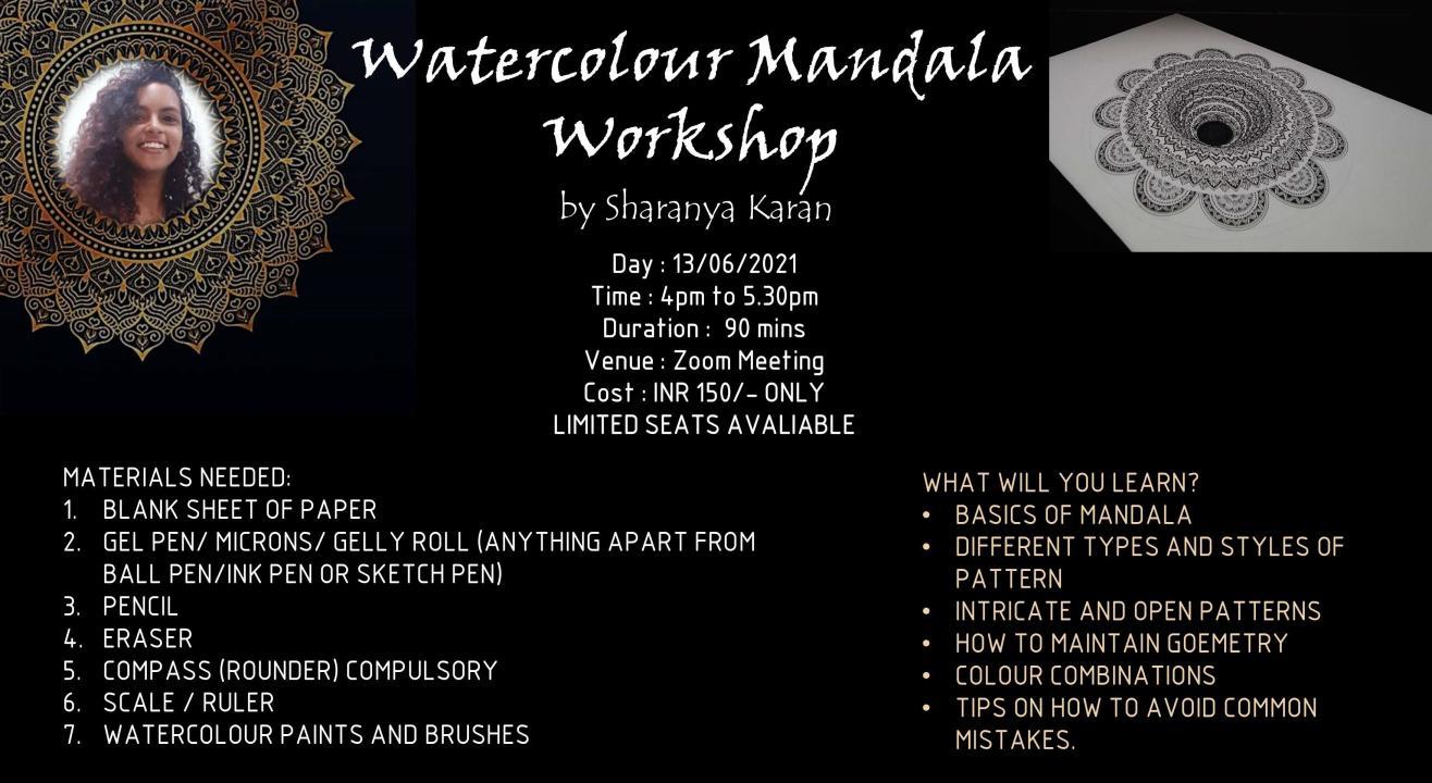 Watercolour Mandala Workshop