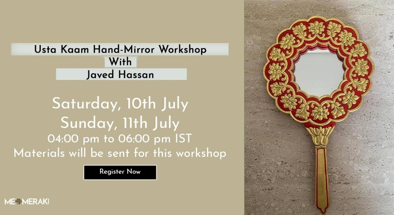 ONLINE USTA KAAM WORKSHOP WITH JAVED HASSAN (WITH MATERIALS)