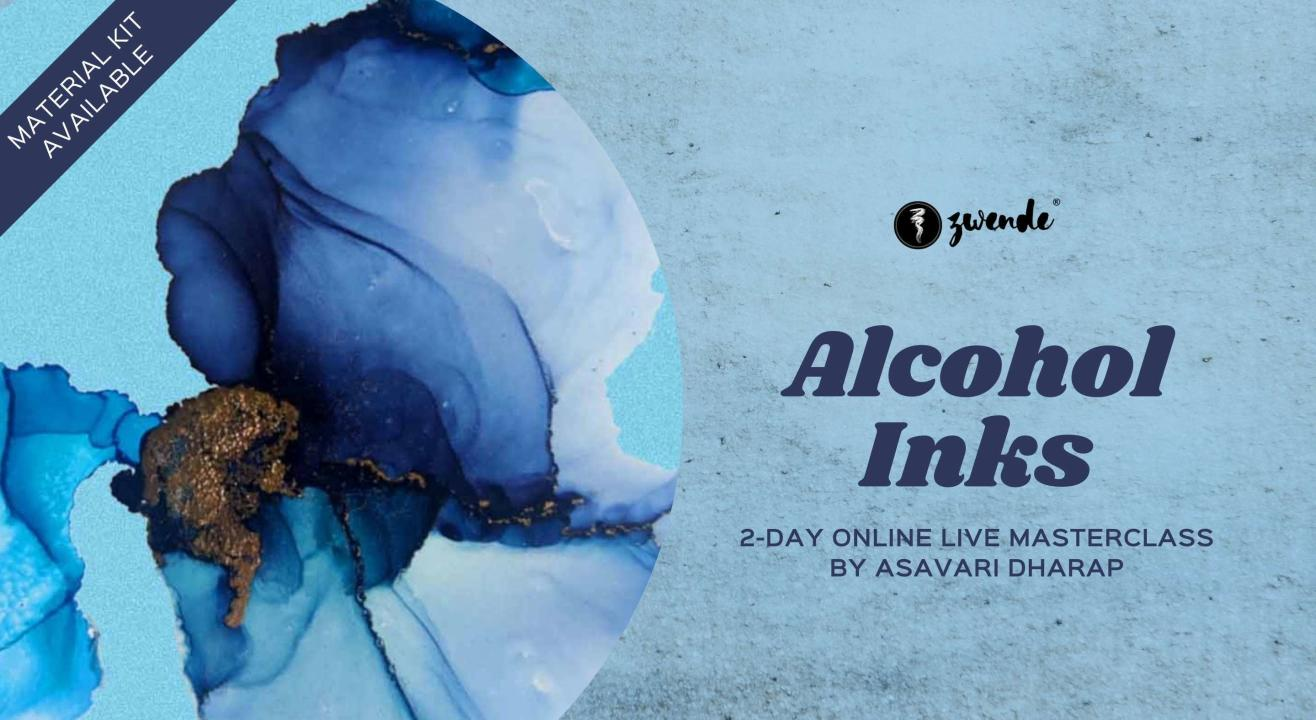 Alcohol Inks [Online Live Masterclass - Material Kit Available]